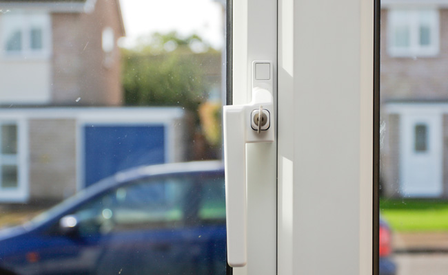 uPVC window lock with key